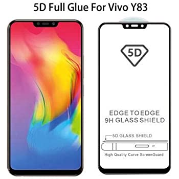 Techgadget 5D Curved Edge-to-Edge Tempered Glass for Vivo Y83 (N-1044)