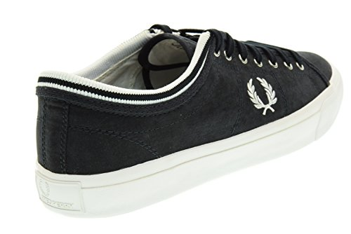 FRED PERRY uomo sneakers basse B8265 608 KENDRICK TIPPED CUFF BRSHD COT NAVY Blu Real Distancia w2WrBzdx