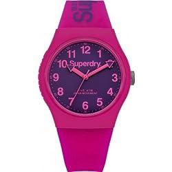 Superdry SYG164PV Ladies Urban Pink Silicone Strap Watch