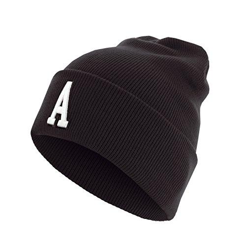 Master Dis C3 Lettre Cuff Knit Bonnet ABC Lettres bonnet A