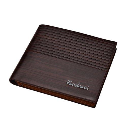 Preisvergleich Produktbild squarex Man Prägung Wallet Kreditkarte Kupplung Bifold Geldbörse minimalistisch Fronttasche Brieftasche coffee AS Show