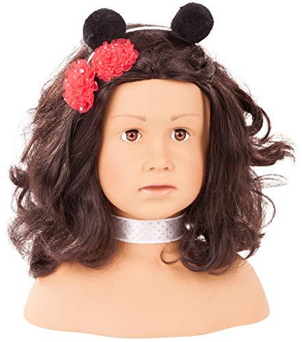 Götz 1992157 Haarwerk Ladybug Signature Edition, Schwarze Haare, braune Augen - 28 cm hoher Frisier- und Schminkkopf in 68-teiligen Set - geeignet für Mädchen ab 3 Jahren (Edition Signature)