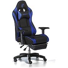 Snakebyte juegos: asiento ajustable silla de escritorio para gamers–negro/azul