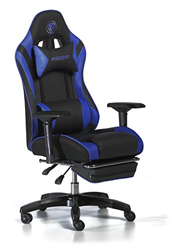 Snakebyte Universal Premium Gaming:SEAT - Stuhl - Racing Chair - für Gaming Sessions - blau/schwarz
