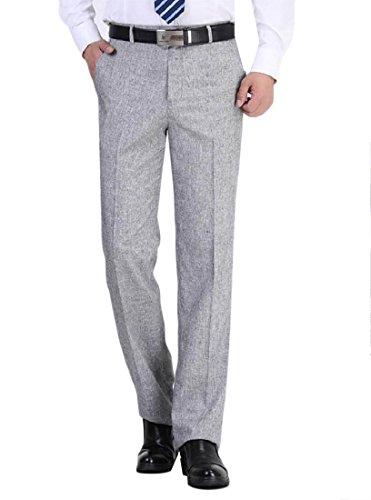 Relaxed Fit Anzug (Aooword-men clothes Herren relaxed fit anzug casual wear to work hochzeit anzughose 42 Hell Grau)
