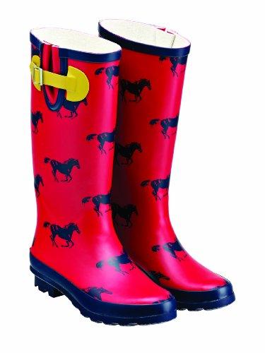 Tottie Wharfedale Bottes de pluie rouge - Rouge