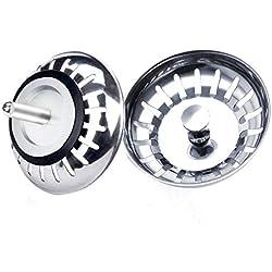 LBTrading Filtre evier Cuisine, 2 pcs 80 mm en Acier Inoxydable Protector Bouchon de vidage lavabo pour Cuisine Salle de Bain Douche