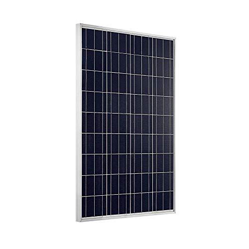 Giosolar 100 Watt Solarmodul Polykristallin Solarpanel - Solarmodul Solarzelle Photovoltaik, 100 W, 12 V PV-Modul Mit 90cm Kabel und MC4 Steckern-Camping Photovoltaik-modul