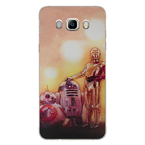 I-CHOOSE LIMITED Star Wars Telefon Hülle/Case für Samsung Galaxy J5 2016 / Silikon Weiches Gel/TPU / 3 Droids Kunstdruck (Fall Samsung Simpson)