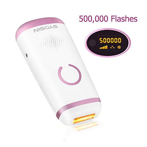 SYOSIN IPL Haarentfernungsgerät 500,000 Lichtimpulsen Mit LCD-Bildschirm Dauerhafte Haarentfernung...