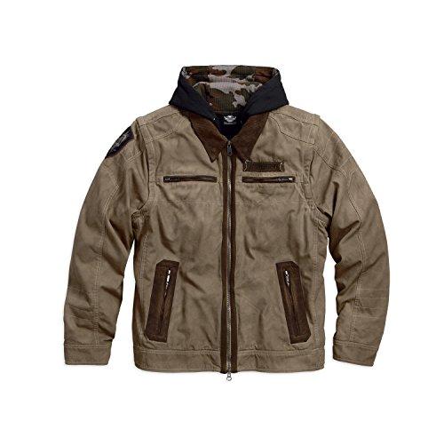 Harley-Davidson Hayden 5-in-1 Workwear Jacket 97588-17VM Herren Outerwear, tan, XL (Tan T-shirt Besticktes)