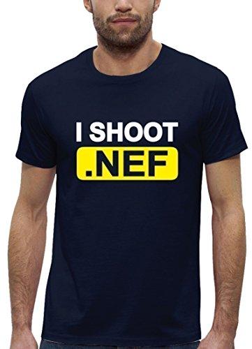 Fotografen Premium Herren T-Shirt aus Bio Baumwolle mit I Shoot NEF Marke  Stanley Stella