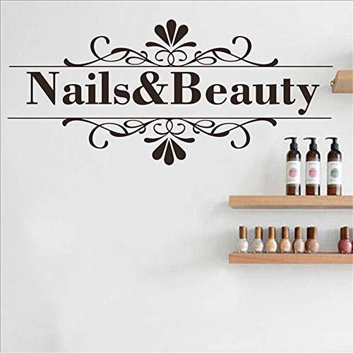 Nagel Schönheitssalon Wandaufkleber Nail Shop Hände Spa Kunst Design Maniküre Salon Wandtattoo Vinyl Durable Einfach Abnehmbare Kunst Decor 1 89 * 40 cm