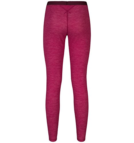 Odlo pantaloni da donna Revolution TW caldo biancheria intima funzione abbigliamento da slip & Leggings, Donna, Pants REVOLUTION TW WARM, Sangria Melange, XL Sangria Melange