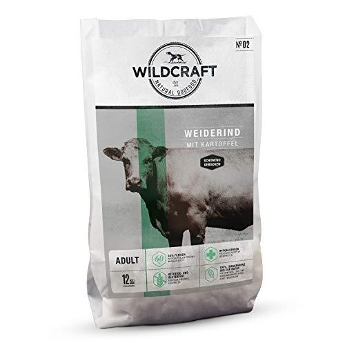 Wildcraft   12 kg   Trockenfutter für Hunde   getreidefrei   Weiderind mit Kartoffel   Monoprotein   Hoher Fleischanteil   Schonend gebacken