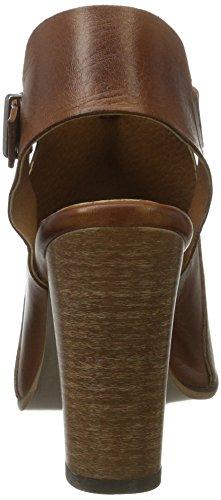Bianco Open Dress Shoe Djf16, Sandales  Bout ouvert femme Marron Clair