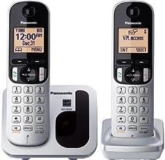 Panasonic KXTGC212S DECT 6.0 1-Handset 2-Line Landline Telephone