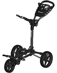 Fast fold Golf à Flat Fold 3Roue Push Trolley couleur: noir