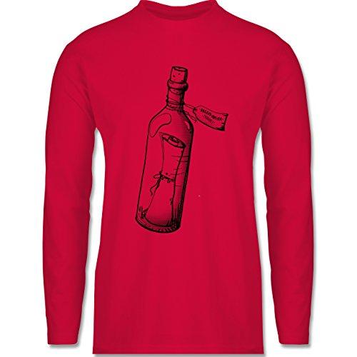 Statement Shirts - Geschenk Flaschenpost - Longsleeve / langärmeliges T-Shirt für Herren Rot