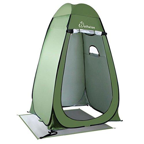 WolfWise Tente Instantanée de Douche Toilette Portable Camping Abri de Plein Air Vestiaire Amovible Extérieure Intérieure - Vert