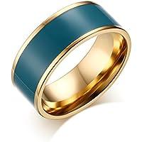 Da uomo donna, in acciaio INOX, colore: blu, tinta unita,