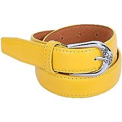 zolimx Cinturones de mujer, Accesorios vintage Casual ocio delgado correa (Talla única, amarillo)