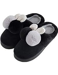 Huhu833 Kinder Warm Hausschuhe Kinder Baby Jungen M/ädchen Winter Warme Cartoon Pl/üsch Flache Hausschuhe und Indoor Weiche rutschfeste Slippers Schuhe
