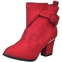 Zapatos de Martin, OXOK Botines de Las Mujeres Tacones Altos
