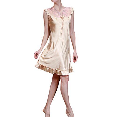 Generic -  Camicia da notte  - Donna Champagne