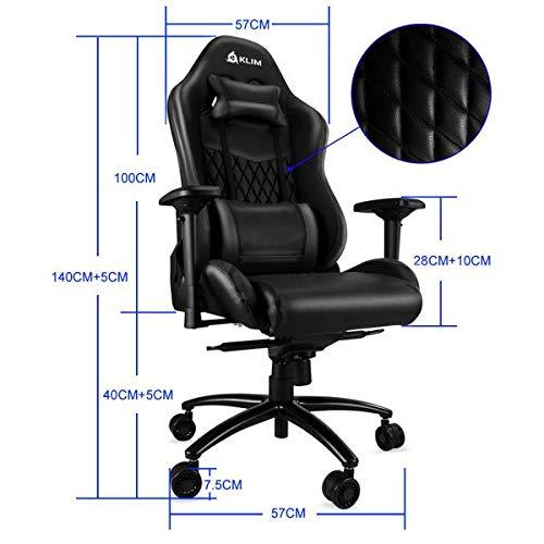 KLIMTM Esports - Chaise Gamer Très Haute Qualité - Finitions Soignées - Ajustable - Ergonomique - Inclinable - Confortable - Siege Bureau - ... 10