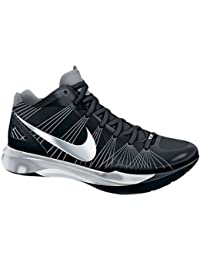 45cfe87f4ac9 NIKE Volley Zoom Hyperspike Black White Metallic Silver Women s Volleyball  Shoes