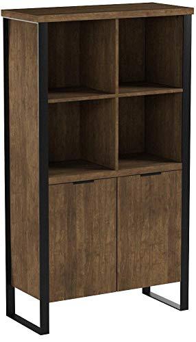 Vicco Bücherregal Borea 8 Fächer 2 Türen Bücherschrank Standregal Aktenregal