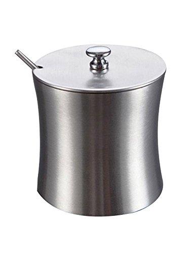 Cozyle en acier inoxydable assaisonnement Bouteille Sucre Sel Shaker Argenté