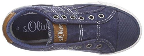 s.Oliver Unisex-Kinder 43203 Low-Top Blau (NAVY COMB. 891)