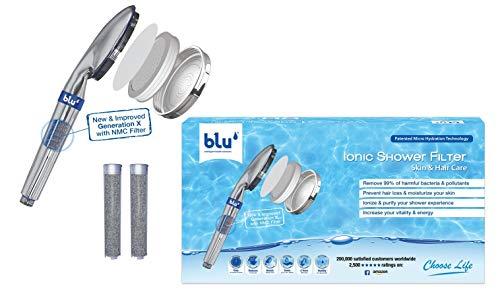 blu Ionic Shower Filter: Hi-Tech Duschkopf | Entspannen und Wasser sparen bei vollem Duschgenuss