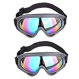 Lommer Gafas de Seguridad para Nerf, 2pcs Gafas de Protección Classic Táctico Gafas Protección de los Ojos para Nerf, CS, Paintball Juegos, Colorful, 18*8*4cm