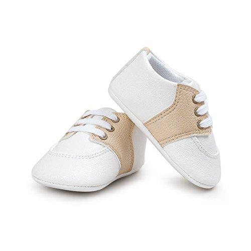 Estamico,Chaussures premiers pas pour bébé garçon, sneakers bébé fille Beige