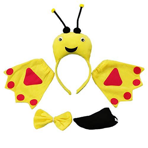 outgeek Halloween Kostüm Einstellen Kreativ Süß Biene Kostüm Party Kostüm zum Kleinkinder