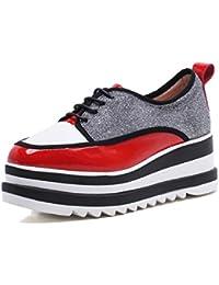 KJJDE Zapatos con Plataforma Mujeres WSXY-A2501 Serie de Color de Hechizo Mujer Moda Loafers Casual