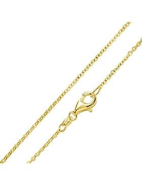 MATERIA Gold Ankerkette 925 Sterling Silber 1mm Halskette vergoldet in 40-80cm verfügbar #K61