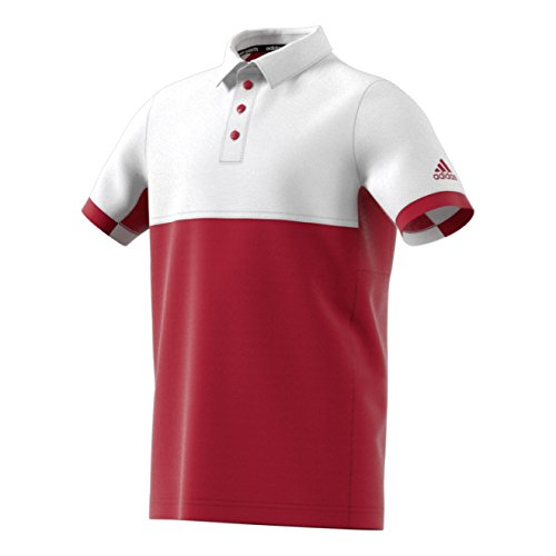 adidas Herren T16 Climacool Boys Polo Shirt, Neonrot, 152 Preisvergleich