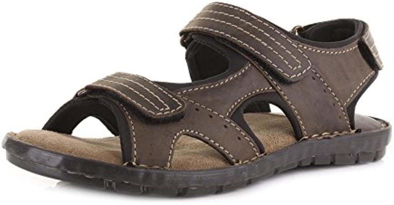 les hommes d'activité b00uvtpwb2 cuir brun sandales b00uvtpwb2 d'activité velcro aventure amorti parent 6d9837