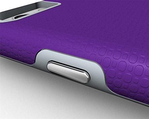 Iphone 6 Plus Coque,Étui Housse Protection Shell Case Couverture Defender TPU de + PC Forte Hybride Téléphone Capa Cas Pour Apple iPhone 6/6s Plus -Noir Violet