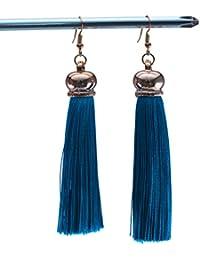 Xpork Bohemian Vintage Long Tassel Earrings Long Fringe Dangle Elegant Earrings Jewelry Gift