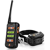 Furkicks Sprachbefehlen Anpassbar Hunde Erziehungshalsband, Wiederaufladbare Trainingshalsband mit Fernbedienung bis Zu 500m, Vibrationen Anti Bell- Dog Training Collar