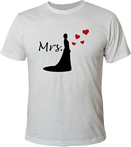 Mister Merchandise Herren Men T-Shirt Mrs - Braut Tee Shirt bedruckt Weiß