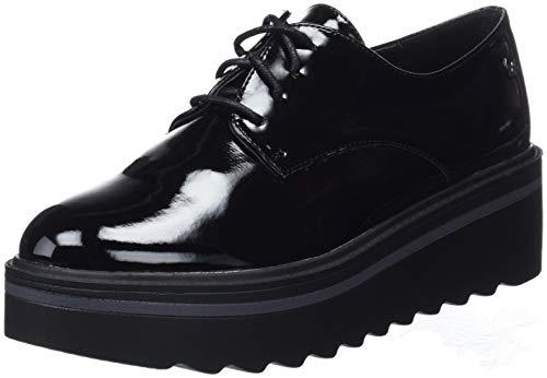 XTI 48491 Zapatos de Cordones Oxford para Mujer, Negro (Black) 40 EU