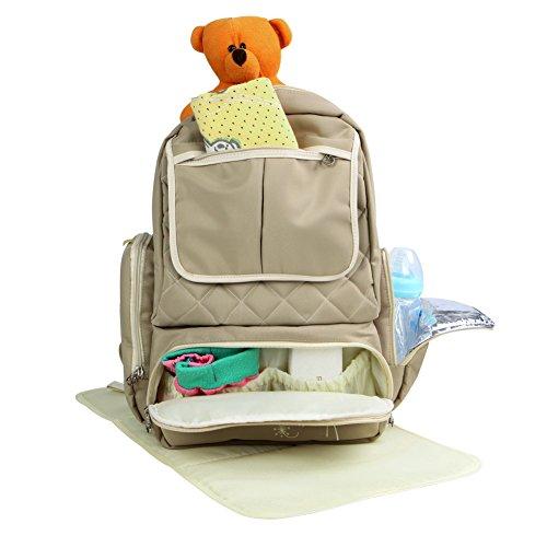 Preisvergleich Produktbild Yodo Baby Windeltasche Windel Rucksack mit 13 Taschen – Plus Baby Wickelunterlage und Wischen Dispenser Fall, Khaki