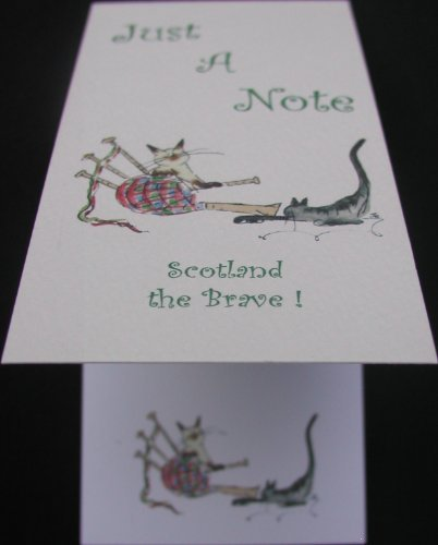 "Scotland The Brave ""Dudelsack"" Just A Note ""Musical Cat Notizblock"