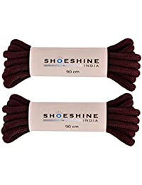 SHOESHINE INDIA Men's and Women's Chocolate Polyester Round Hiking Shoe Laces (36-inch/90cm)